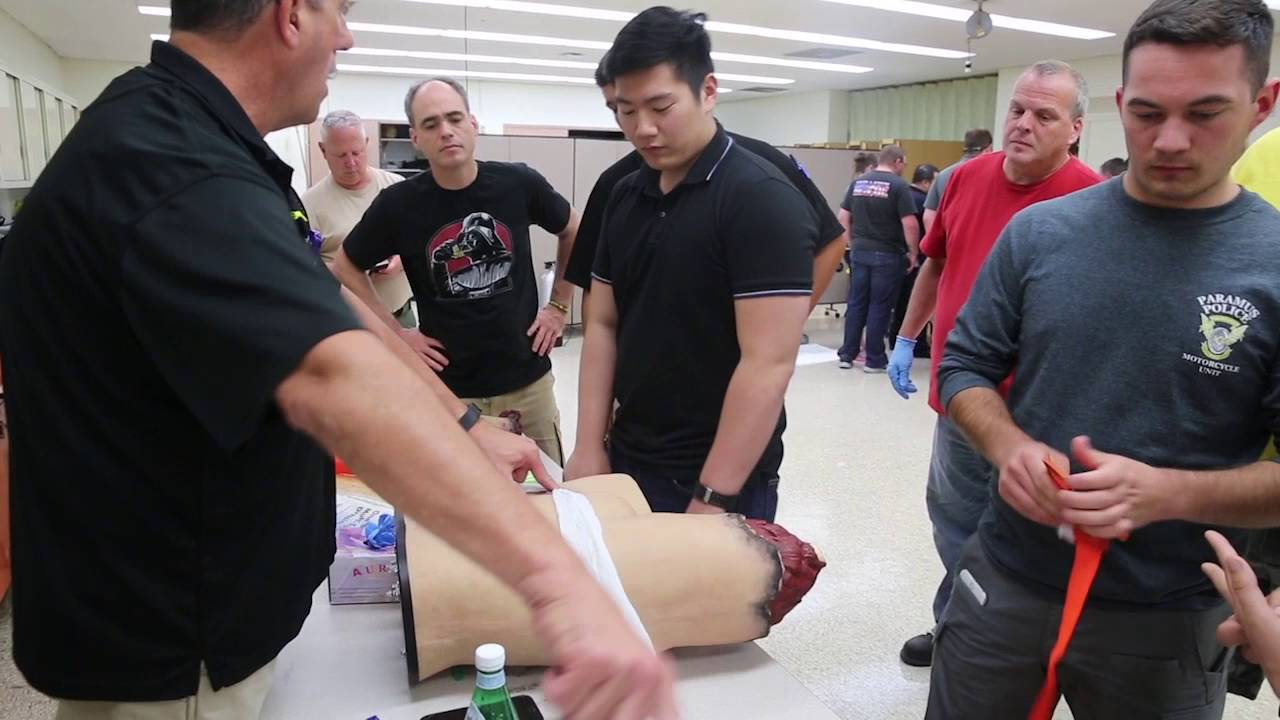Mass casualty incident training at University Hospital, Newark