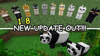 Minecraft 1.8 OUT NOW! PANDAS, BAMBOO NEW CATS & MORE! Xbox One, Switch PE & Windows 10