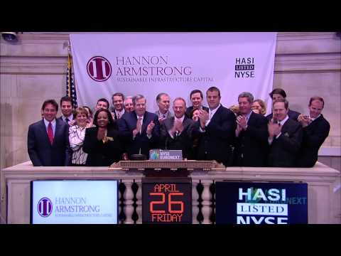 Hannon Armstrong Sustainable Infrastructure Capital, Inc. Celebrates Recent IPO