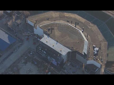 Crews Have Raised The Roof At American Family Insurance Amphitheater