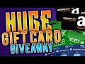 HUGE GIFT CARDS GIVEAWAY!! PSN CARDS, XBOX CODES, STEAM CARDS, AMAZON CARDS & MORE GIVEAWAY!