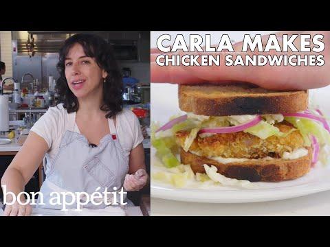 Carla Makes Crispy Fried Chicken Cutlet Sandwiches | From the Test Kitchen | Bon Appétit