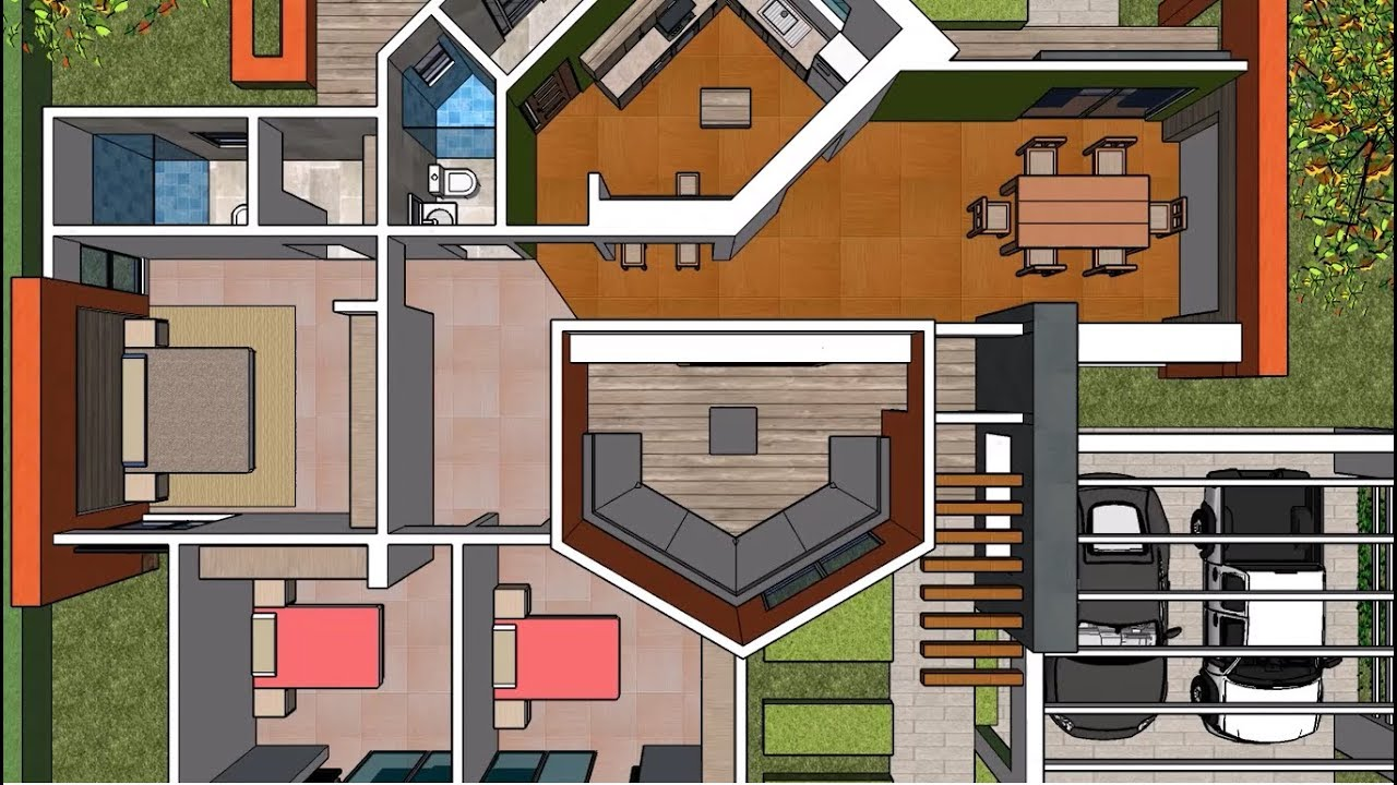 Plano casa un piso tres rec maras proyecto de for Plano casa un piso