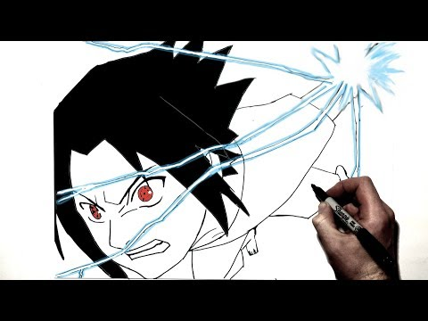 How To Draw Young Sasuke With Chidori | Step By Step | Naruto