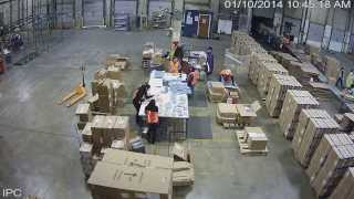 Example of Hi-Definition Video Surveillance of a Factory Floor - by CCTVDOC.COM