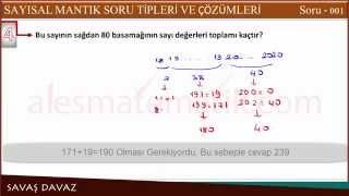 Ales Sayısal Mantık Sayısal Yetenek Soruları - Soru 001