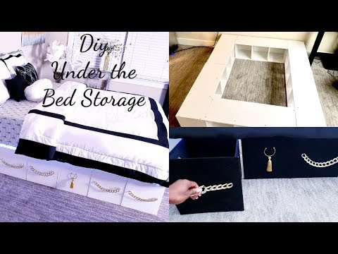 HOW TO MAKE UNIQUE STORAGE UNDER THE BED WITH SHELVES!!! QUICK AND EASY ROOM LUXURY DECOR!