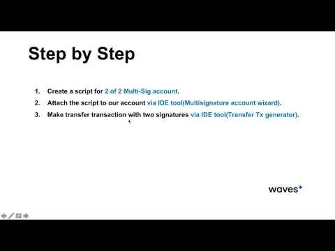 Creating multisignature account via Waves IDE tools · GitBook