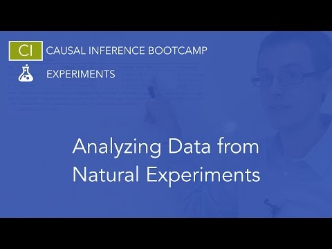 Analyzing Data from Natural Experiments: Causal Inference Bootcamp