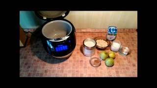 Домашние видео рецепты - овсянная каша с яблоком в мультиварке