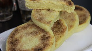 Harcha - Marokkanisches Grießbrot - Moroccan Semolina Bread