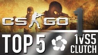 CS:GO - Top 5: 5 vs 1 CLUTCH