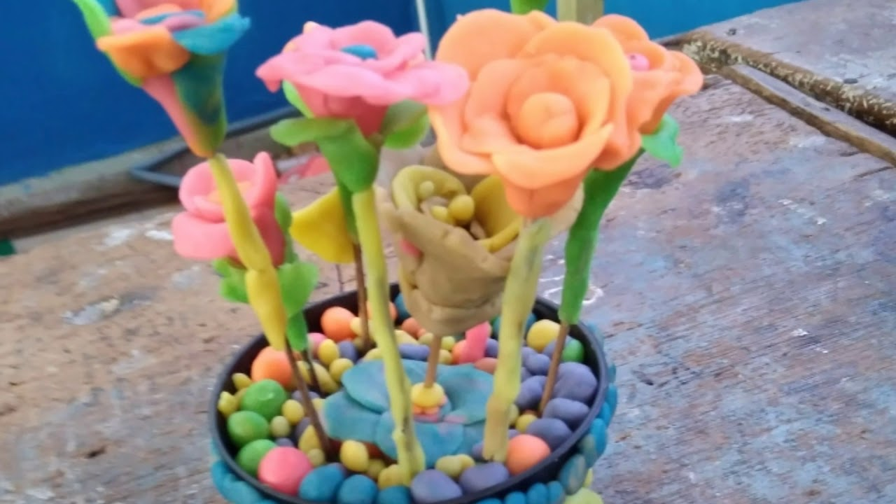 Fantastis 24 Gambar Bunga Lilin Plastisin Gambar Bunga Indah