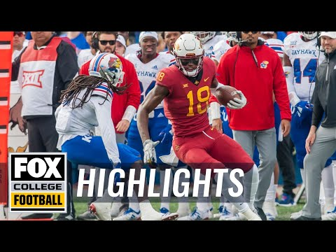Iowa State vs Kansas | FOX COLLEGE FOOTBALL HIGHLIGHTS