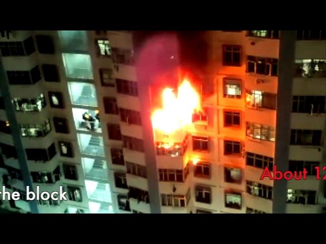 HDB Fire @ North Bridge Road, 120 people evacuated