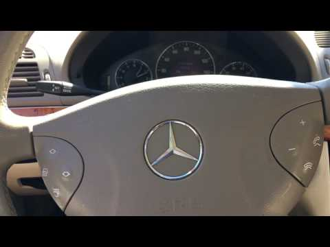 Mercedes W211 How to use hidden air condition (AC) menu   FunnyCat TV
