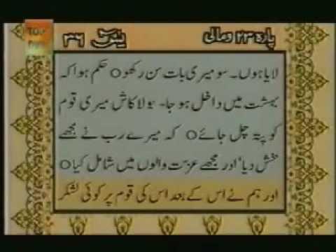Surah Yaseen With urdu Translation Full