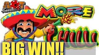 ☆☆ BIG WIN ☆☆ More Chilli Slot Machine Bonus ♠ SlotTraveler ♠