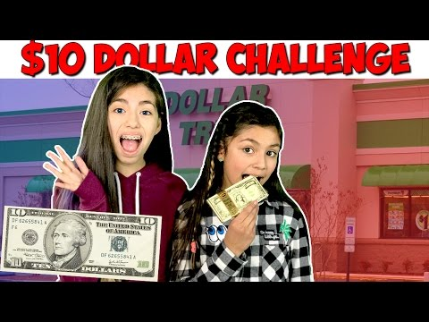 $10 Dollar Tree Challenge - KidToyTesters $1,000,000 Chocolate Bar