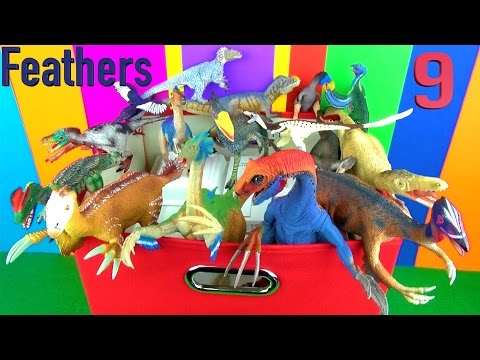 DINOSAUR Box 9 TOY COLLECTION - FEATHERED DINOSAURS Unboxing Toy Review  SuperFunReviews