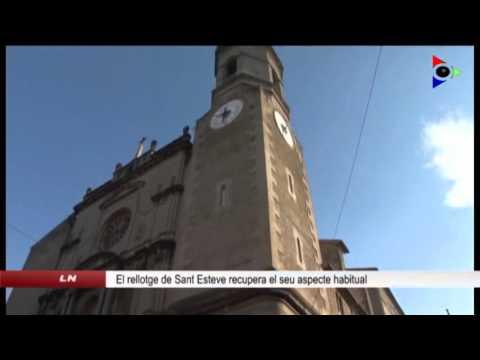 Els rellotges de l'església de Sant Esteve d'Olot recuperen