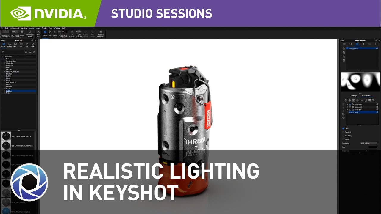 KeyShot: Create Realistic Lighting With HDRI | NVIDIA Studio Sessions