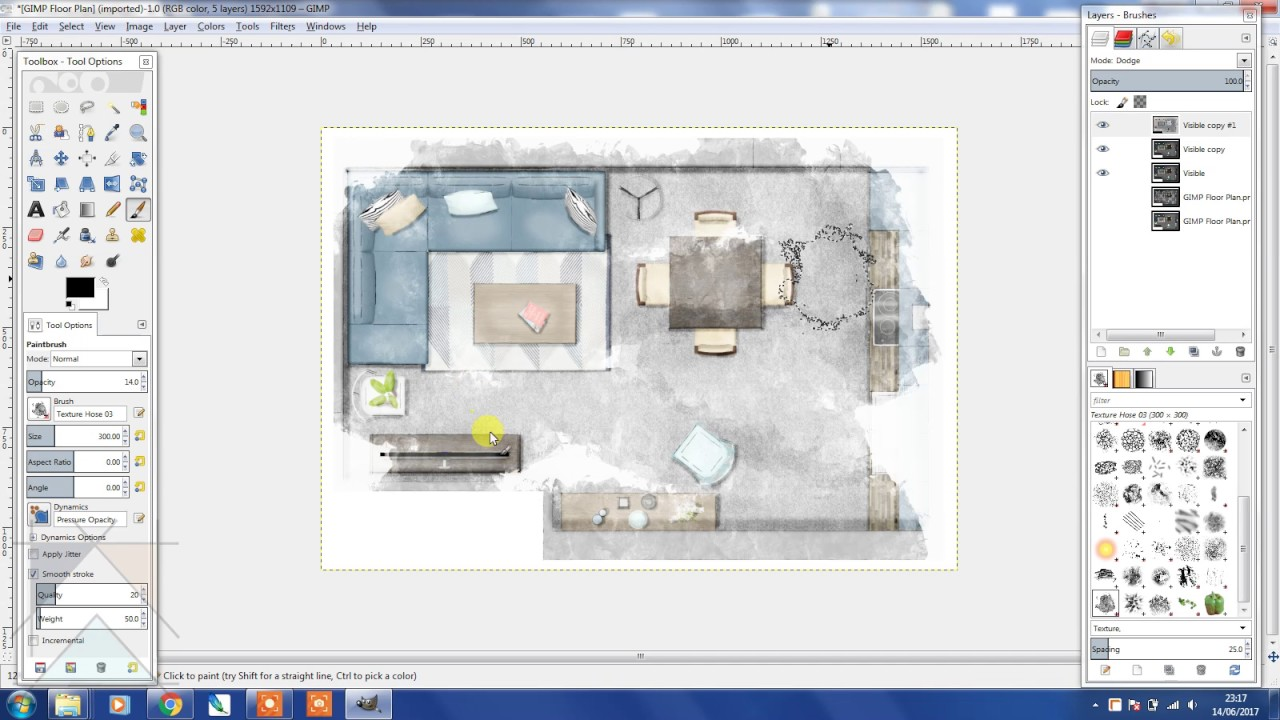 Rendering a SketchUp Floor Plan Using GIMP YouTube – Site Plan Rendering Software