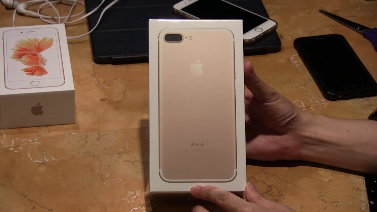 iphone 7 plus gold 256gb unboxing youtube. Black Bedroom Furniture Sets. Home Design Ideas