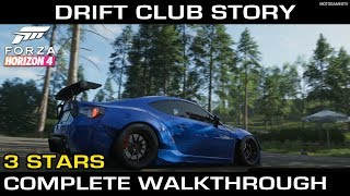 Forza Horizon 4 - Drift Club Story (3 Stars Complete Walkthrough)
