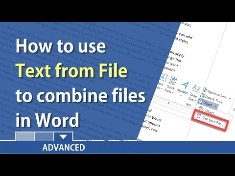 Word: Insert Text From File To Combine Word Documents By Chris Menard