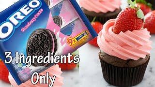 Oreo Cupcake - Strawberry Cupcake - Only 3 Ingredients