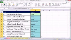 Excel Magic Trick 948: Lookup Insurance Name from within Parenthesis (Extract Text From Text String)