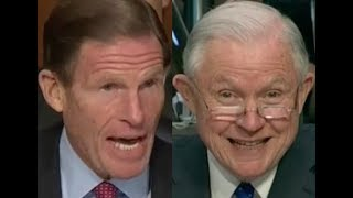 WOULDN'T IT BE ILLEGAL???!! Richard Blumenthal BRILLIANTLY Grills Jeff Sessions on Donald Trump