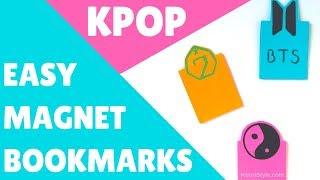 【KPOP DIY】 Easy Magnetic Bookmarks ♥! (Eng/Esp)