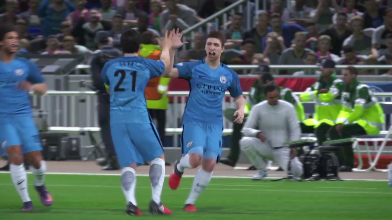 Man City vs PSG   CL final - PES 2017 - YouTube