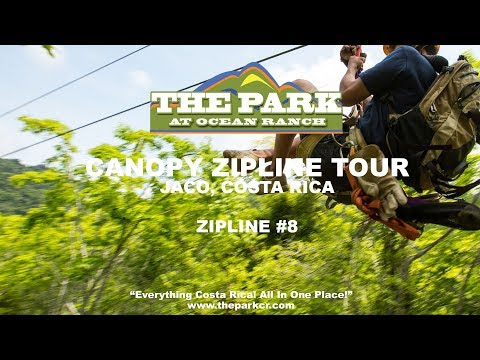 Canopy Zipline Tour Jaco Costa Rica | Ocean Ranch Park  - Cable #8