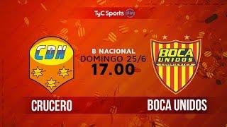 Crucero del Norte vs Boca Unidos full match