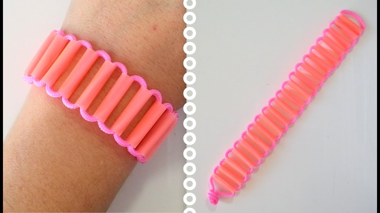 diy comment faire un bracelet avec des pailles paracord cr acord youtube. Black Bedroom Furniture Sets. Home Design Ideas