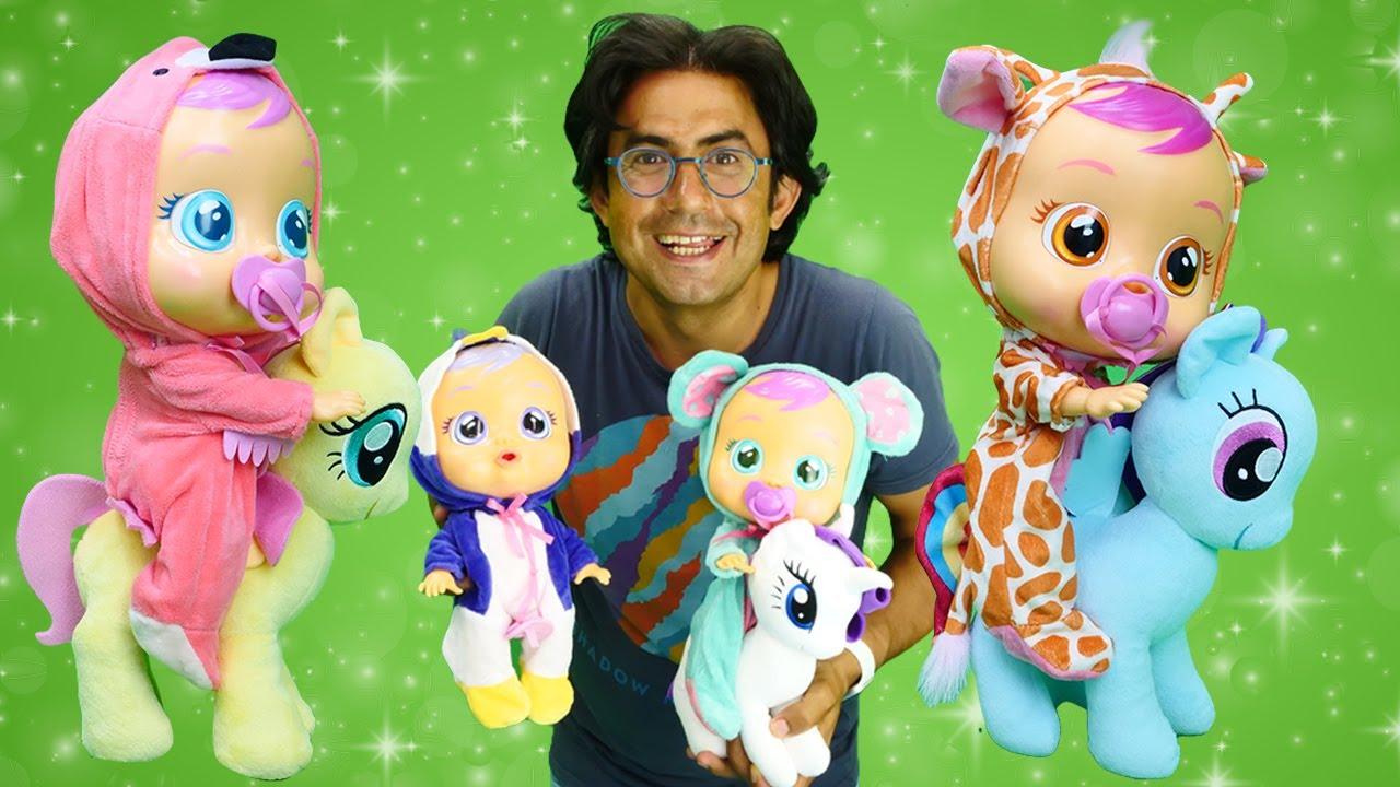 Oyuncak bebek bakma oyunu. Cry Babies susturmaya çalışıyoruz. My Little Pony.