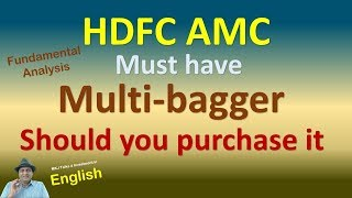 Fundamental Analysis of HDFC AMC  Must have Multi-bagger