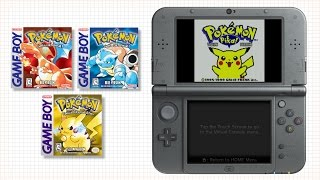 Classic Pokémon Games Return on Virtual Console!