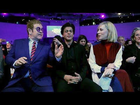 Elton John e Cate Blanchett distinguidos em Davos
