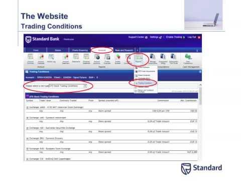 CFDs on Standard Bank Webtrader