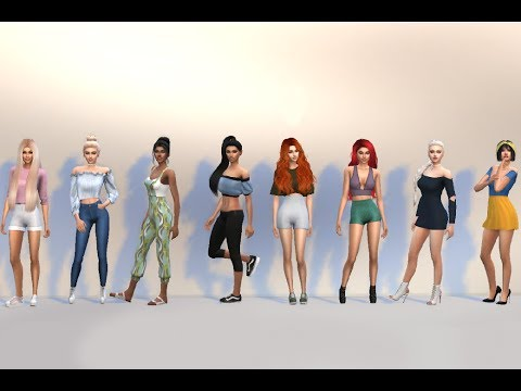 modern day disney princesses and 1 queen sims 4 cas