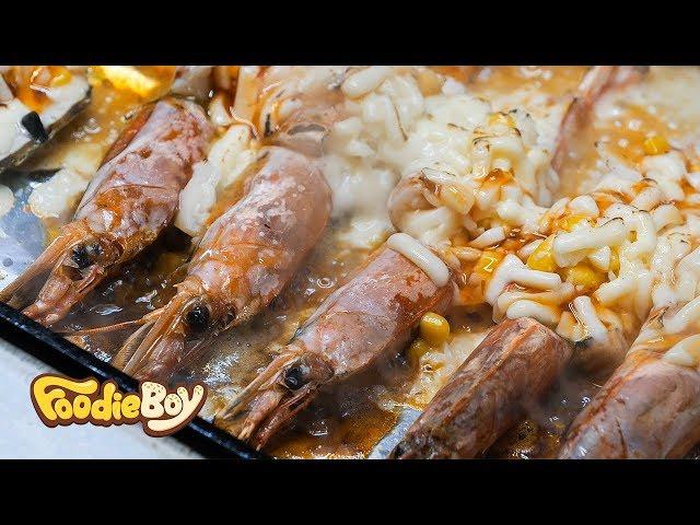 Grilled Cheese Scallop&Shrimp / Daegu Korea / Korean Street Food / 쉬림프&가리비 철판 치즈구이 / 대구 칠성야시장 길거리 음식