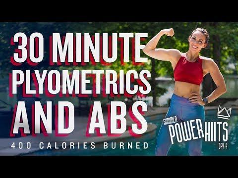 30 Minute Plyometrics and Abs Workout ��Burn 400 Calories!* ��Sydney Cummings
