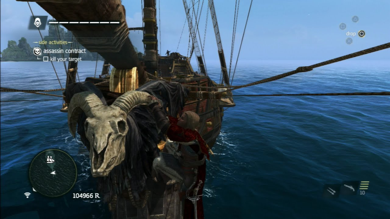 Assassins Creed 4 Death Vessel Kraken Ship Customization Pack