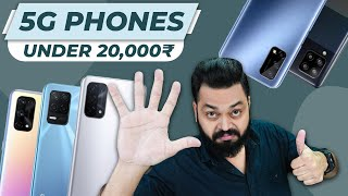 Top 5 Best 5G Smartphones Under ₹20000 Budget ⚡ May 2021