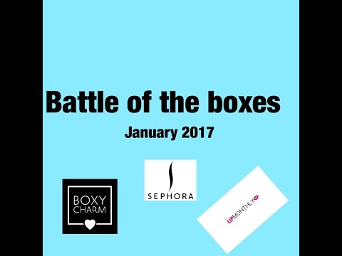 Battle Of The Boxes January 2017 MakeupTipsByWanda