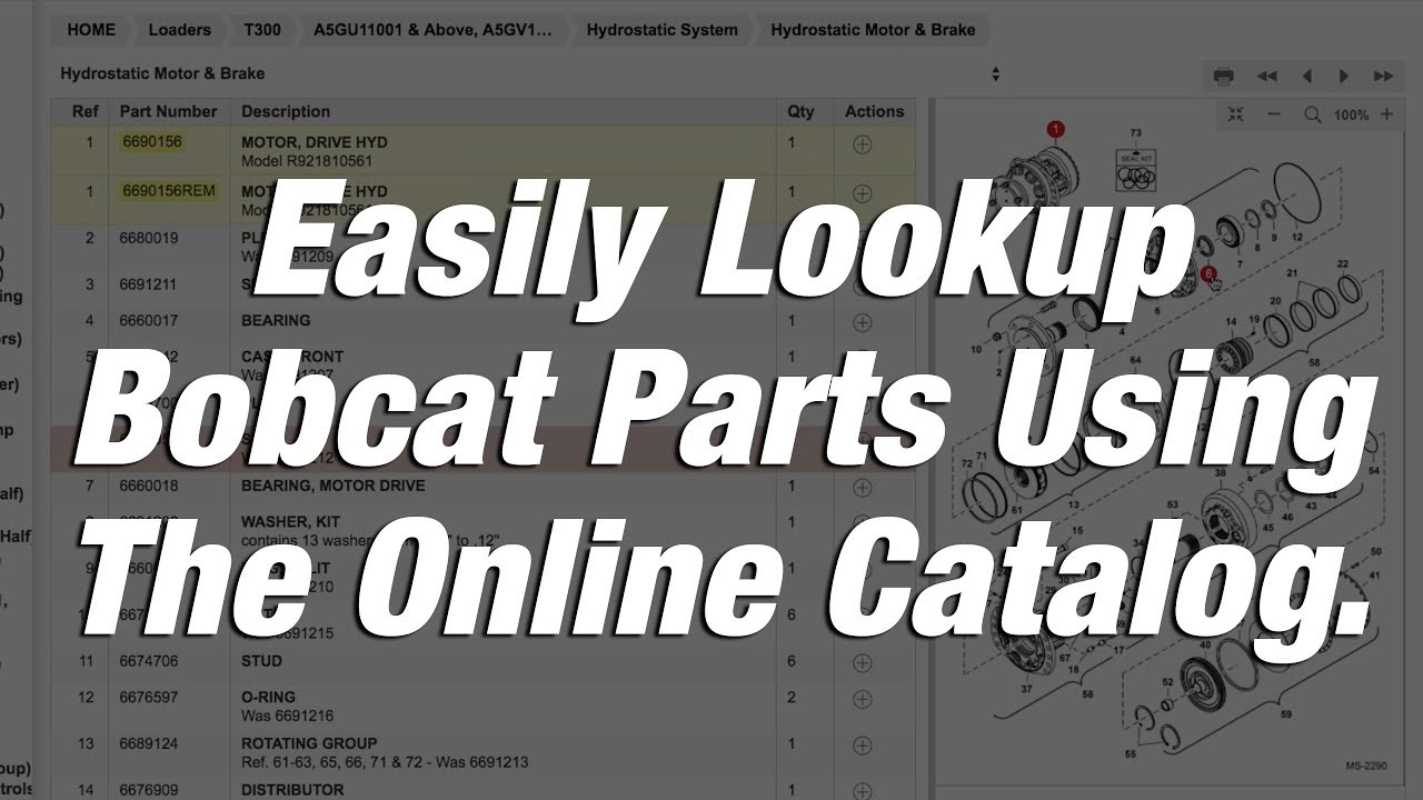 how to find parts using bobcat online parts catalog [ 1280 x 720 Pixel ]